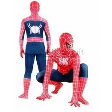 classic red blue spiderman spandex superhero costume
