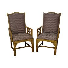 Chinese Chippendale Chair by Erwin Lambeth Custom Pair Of Faux Painted Chinese Chippendale Host