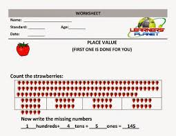 maths place value worksheet grade 1 math olympiad prepartions