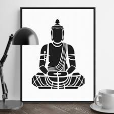 posters india promotion shop for promotional posters india on india modern minimalist zen buddha portrait art prints poster abstract wall picture canvas painting no frame tea room home decor