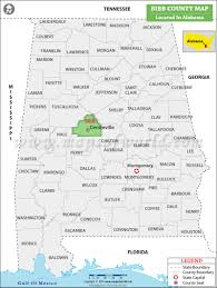County Map Of Alabama Bibb County Map Jpg