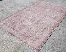 Over Dyed Distressed Rugs Overdyed Rug Etsy