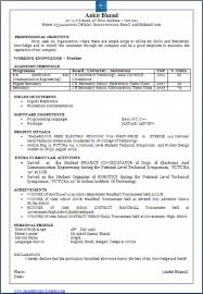 Resume Format Pdf For Electronics Engineering Freshers by 100 Mechanical Engineer Resume For Fresher Miscellaneous
