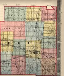 County Map Illinois by Usgenweb Edgar County Illinois Maps Page