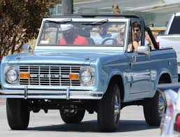 bronco car 2016 lady gaga driving her ford bronco out in malibu 09 04 2016