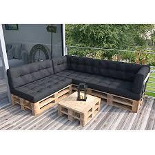 sofa paletten palettensofa inkl palettenkissen und polster komplettset