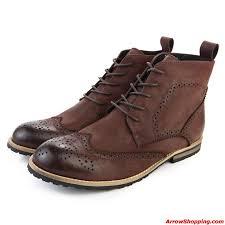 arrow high quality men ankle boots cowboy boots flats rubber 98098