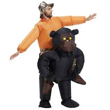 Inflatable Halloween Costumes Adults Unisex Inflatable Gorilla Costume Blow Suit Halloween