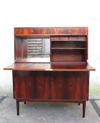 Cherry Secretary Desk With Hutch by Danish Modern Rosewood Drop Down Secretary Desk By H P Hansen