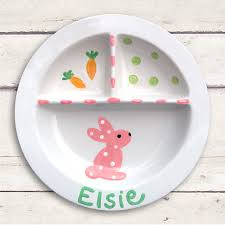 personalized plate easter worm and company