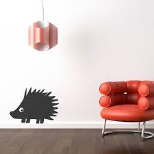 rectangular blackboard wall sticker large chalkboard wall decor hedgehog chalkboard sticker