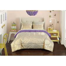 Gold Bedding Sets Your Zone Gold Hearts Bed In A Bag Bedding Set Walmart