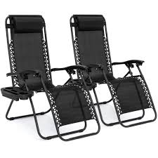zero gravity chairs case of 2 black lounge patio chairs utility