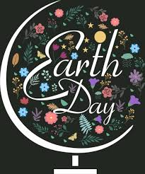 earth day background colorful floral decoration globe sketch free