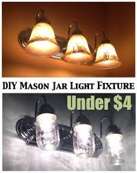 Update Bathroom Lighting Diy Projects And Ideas For The Home Jar Mason Jar Light Fixture