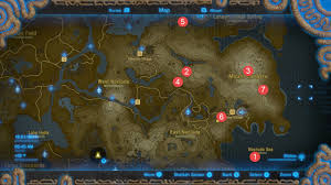 Map Of The Villages Florida by The Legend Of Zelda Breath Of The Wild All Shrine Locations