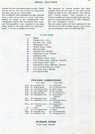 tech files 1952 1954 nash paint codes and reference for wheel