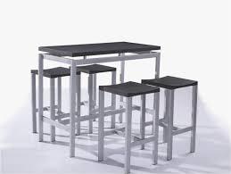 table haute de cuisine avec tabouret table haute de cuisine avec tabouret beau table haute et 4 tabourets