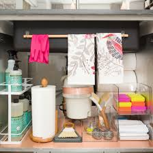 Liner For Under Kitchen Sink by A Dozen Genius Ways To Organize Under The Sink Sinks Organizing