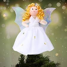 amazon com aytai christmas tree topper angel silver wings white