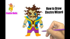 how to draw electro wizard coloring pages kit easy step by