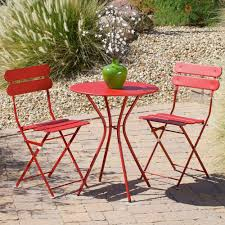 patio bistro table and chairs rst brands sol red 3 piece patio bistro set op bs3 sol r the home