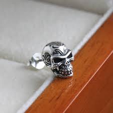thailand earrings aliexpress buy handmade 925 silver skull earing