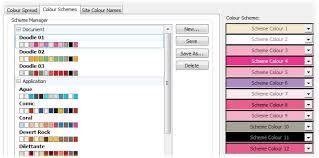 list of colours colour schemes