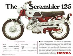 honda brochure cl125 cb125 twin 1960s repro sales catalog honda