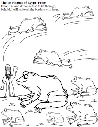 ten plagues coloring page creativemove me