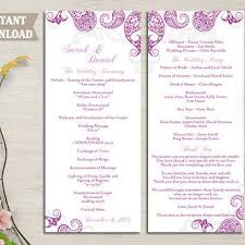 indian wedding program template shop purple wedding programs on wanelo