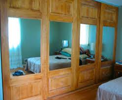 Mirrored Sliding Doors Closet Combination Mirror Panel Sliding Doors
