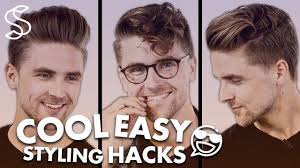 26 lazy hairstyling hacks cool easy hairstyling hacks quick tutorial men hair inspiration