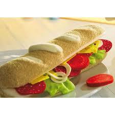 cuisine haba haba play food baguette set