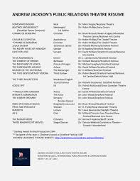 Resume For Theater Andrew Jackson U0027s Theatre Resume The Official Website Of Actor