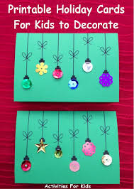 printable ornament cards for