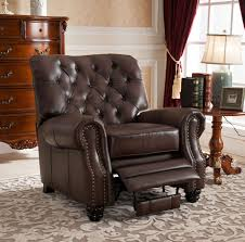 Brown Leather Recliner Chair Recliners Amax Leather