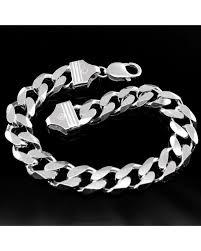 solid sterling silver mens bracelet images Silver bracelet jpg