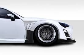 frs car white duraflex 112652 2013 2015 scion frs vr s wide body kit 19 piece