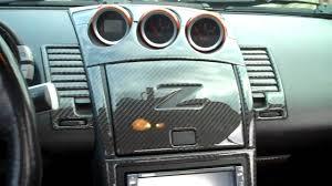 nissan 350z engine cover 2004 nissan 350z carbon fiber kit youtube