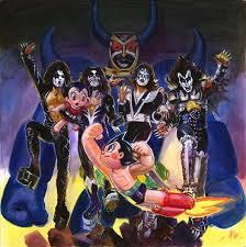 rock band kiss teams astro boy exhibit interest