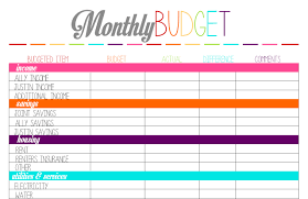 Microsoft Excel Monthly Budget Template Monthly Budget Worksheet Printable Thebridgesummit Co