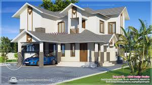 modern sloping roof home exterior design kerala home design and