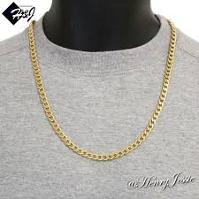 chain necklace men images 24 quot men 39 s stainless steel 6mm gold cuban curb link chain necklace jpg