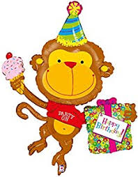 large birthday balloons party on happy birthday monkey 49 mylar balloon large