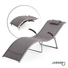 jarder foldable reclined sun lounger space saving garden patio