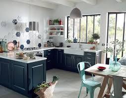 meuble cuisine bleu meuble de cuisine bleu maison et mobilier d intérieur