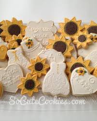sunflower wedding favors sunflower bridal shower so cookies