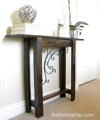 Diy Entry Table by Thrifty And Chic Diy Projects And Home Decor