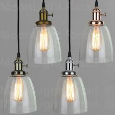 Industrial Glass Pendant Light Vintage Industrial Ceiling L Cafe Glass Pendant Light Shade